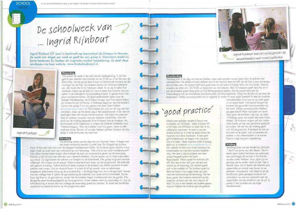 Schoolweek van... Ingrid Rijnbout