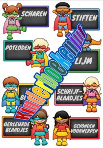 Etiketten superhelden