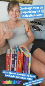 Wenmoment nieuwe klas met kinderboeken